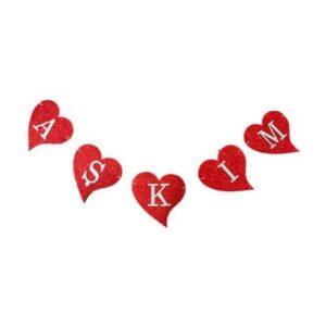 Simli Kalpli Duvara Asılan Aşkım Yazısı