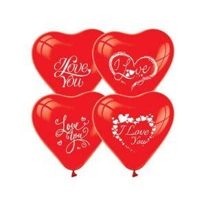 """""""I Love You"""" Baskılı Kalpli Balon"""