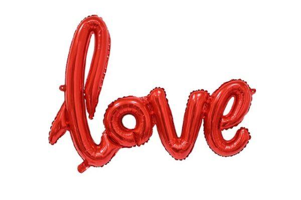 """""""Love"""" Yazılı Folyo Balon"""