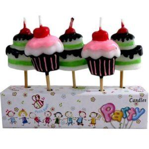 Cupcake Temalı Pasta Mumu